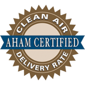 Clean Air Delivery Rate AHAM Certified